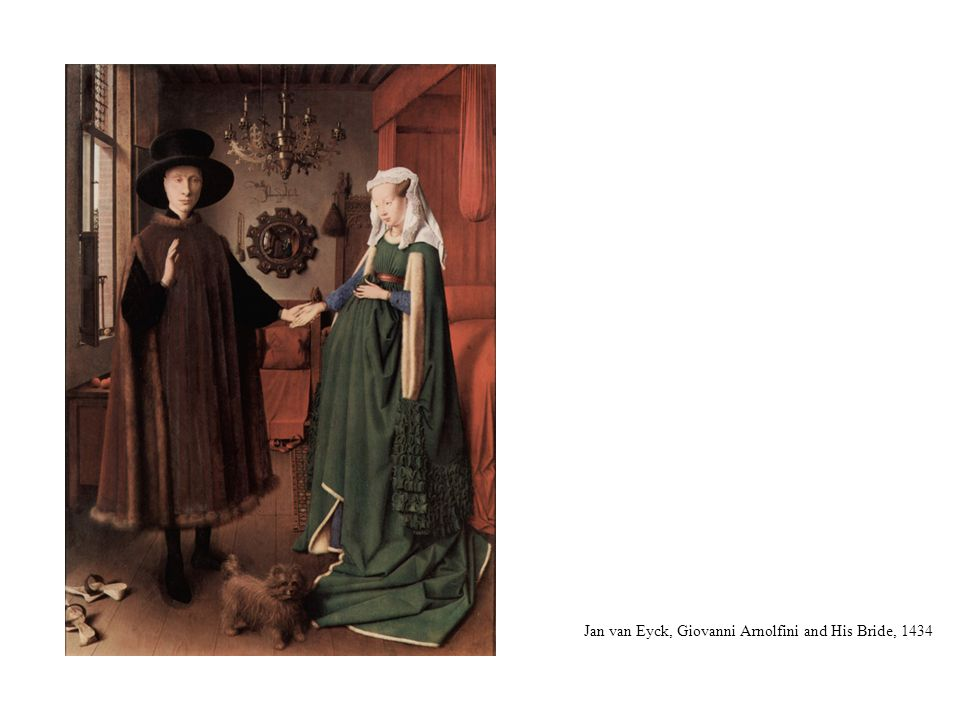 Jan van Eyck, Giovanni Arnolfini and His Bride, 1434