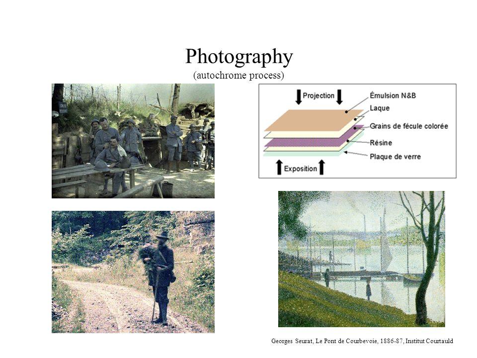 Photography (autochrome process) Georges Seurat, Le Pont de Courbevoie, 1886-87, Institut Courtauld