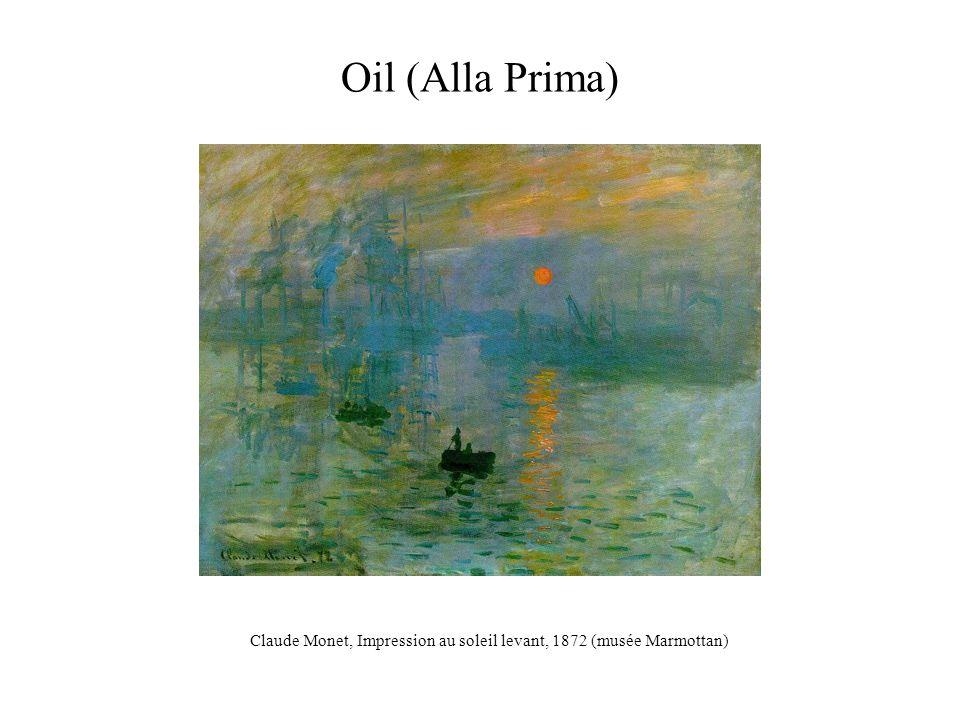Oil (Alla Prima) Claude Monet, Impression au soleil levant, 1872 (musée Marmottan)