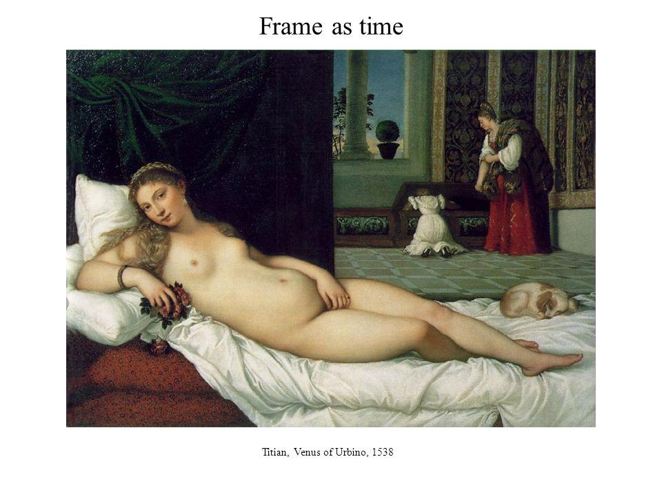 Frame as time Titian, Venus of Urbino, 1538