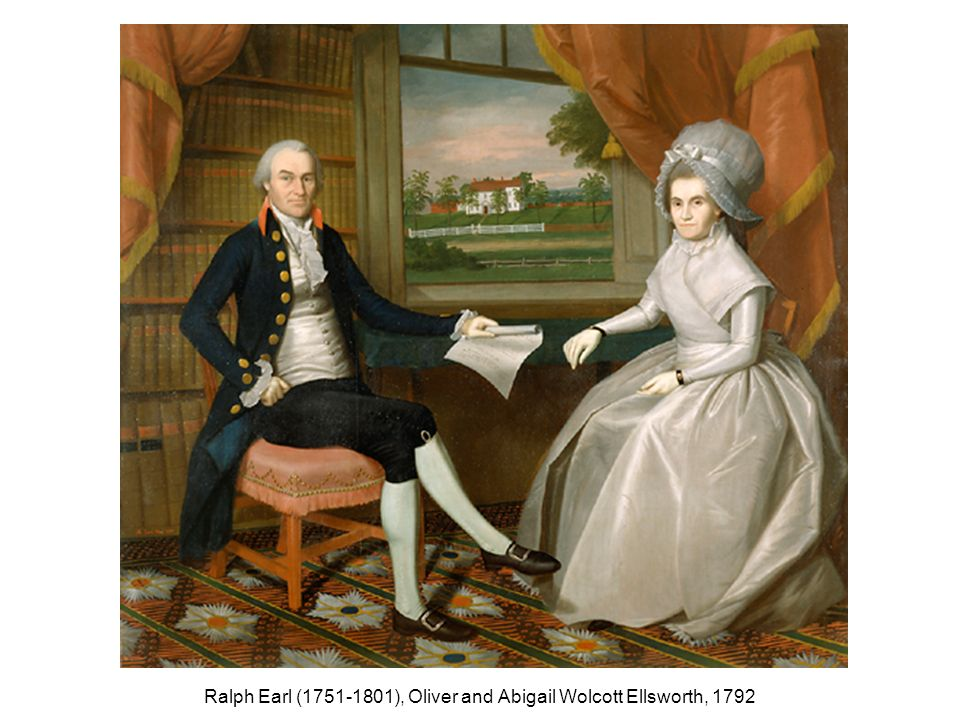 Ralph Earl (1751-1801), Oliver and Abigail Wolcott Ellsworth, 1792