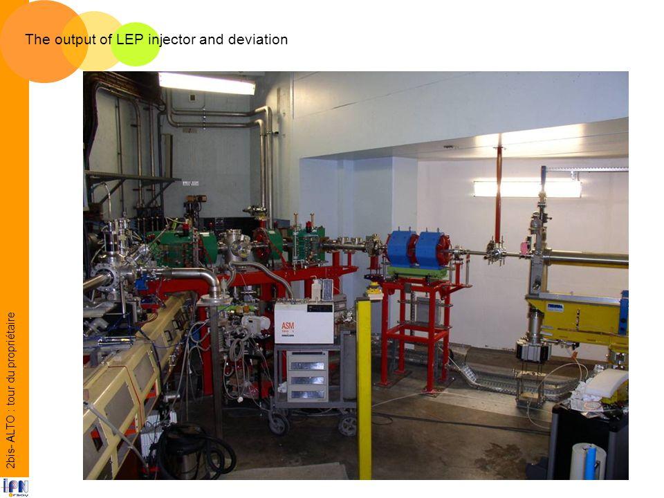 The output of LEP injector and deviation 2bis- ALTO : tour du propriétaire