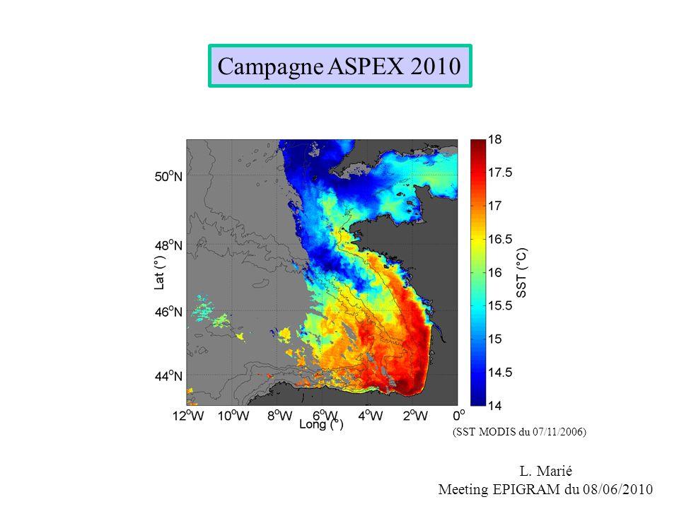 Campagne ASPEX 2010 L. Marié Meeting EPIGRAM du 08/06/2010 (SST MODIS du 07/11/2006)