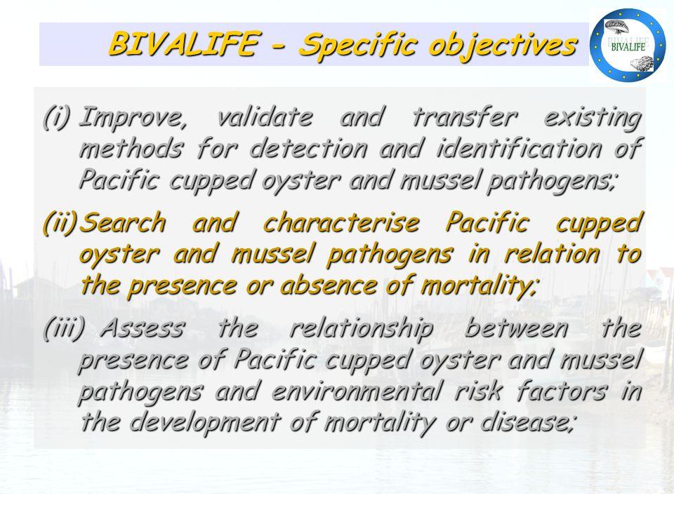Présence relativement homogène des pathogènes identifiés BIVALIFE - Specific objectives (i)Improve, validate and transfer existing methods for detecti