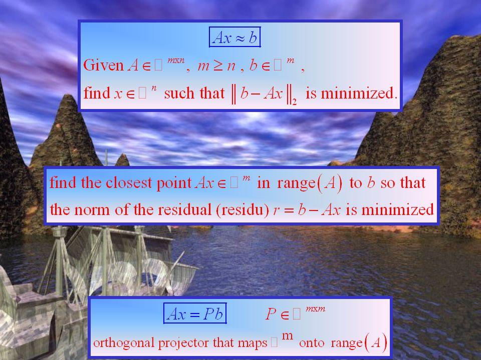 Approximation au sens des moindres carrées Équations normales forme quadratique