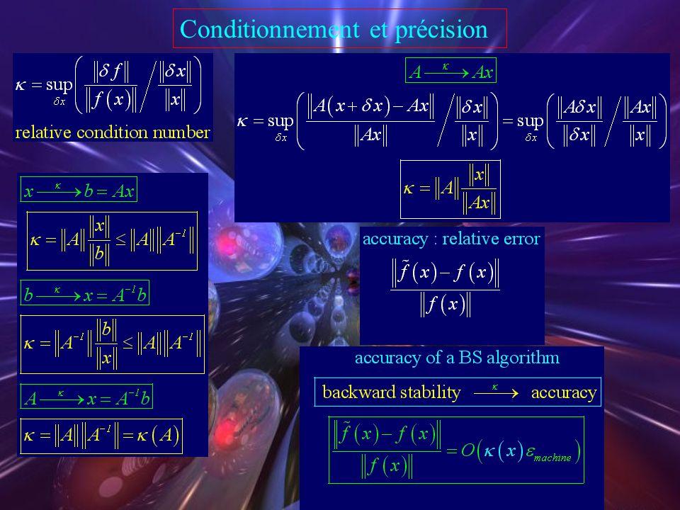 Comparison of algorithms  speed : normal equations  standard : QR factorization  A close to singular : SVD Drawbacks normal equationsnot always sta