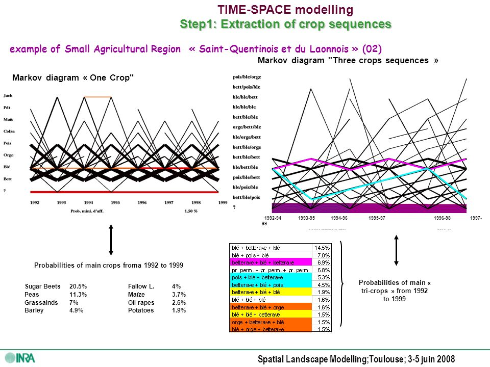 Spatial Landscape Modelling;Toulouse; 3-5 juin 2008 Choosing the spatial resolution Quantifing the loose of spatial information in relationship with the spatial resolution level Finding a solution …to explain our choice !
