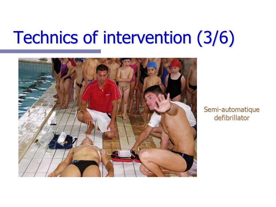 Technics of intervention (3/6) Semi-automatique defibrillator