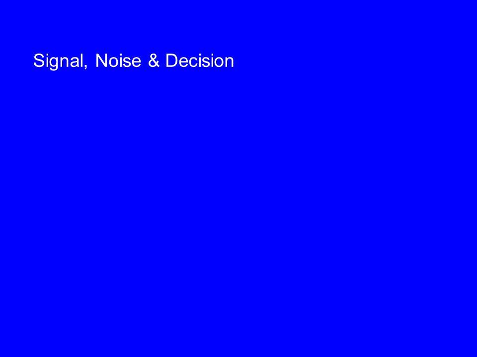 Signal, Noise & Decision