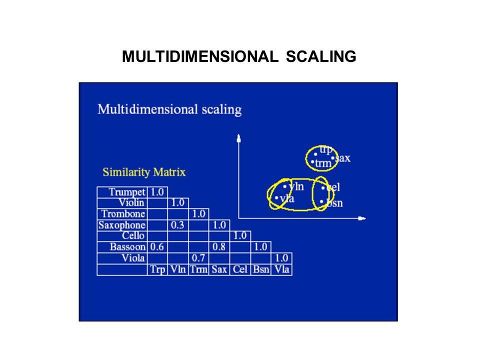 MULTIDIMENSIONAL SCALING