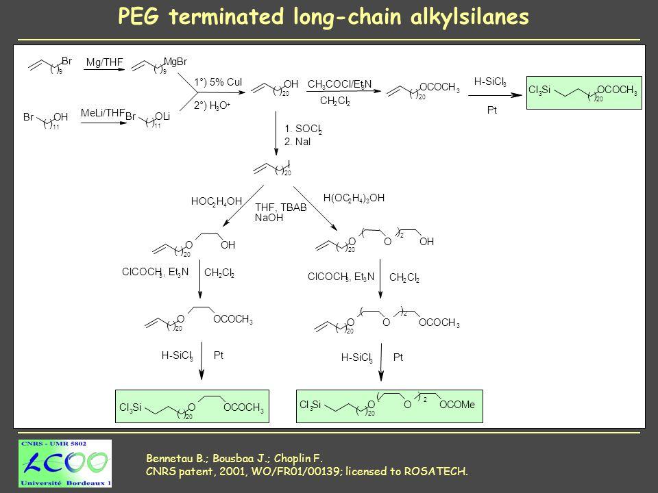 Bennetau B.; Bousbaa J.; Choplin F. CNRS patent, 2001, WO/FR01/00139; licensed to ROSATECH.