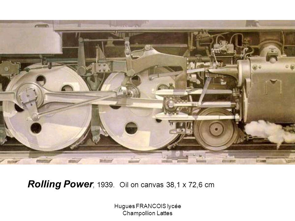Rolling Power, 1939. Oil on canvas 38,1 x 72,6 cm Hugues FRANCOIS lycée Champollion Lattes