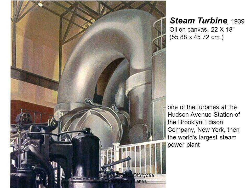 Steam Turbine, 1939 Oil on canvas, 22 X 18