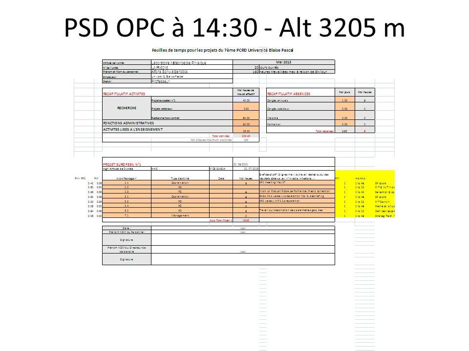 PSD OPC à 14:30 - Alt 3205 m