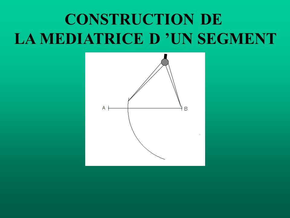 CONSTRUCTION DE LA MEDIATRICE D UN SEGMENT