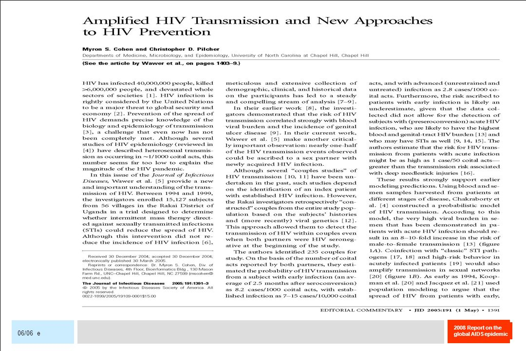2008 Report on the global AIDS epidemic 06/06 e