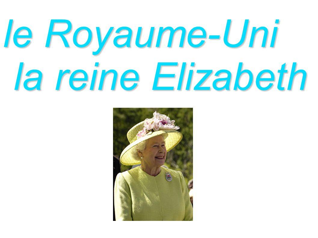 le Royaume-Uni la reine Elizabeth la reine Elizabeth