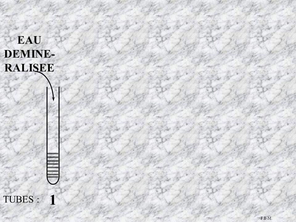 TUBES : 1 EAU DEMINE- RALISEE F.B-M.