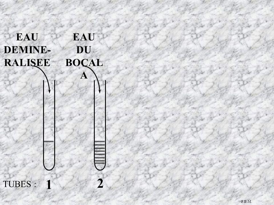 TUBES : 1 2 EAU DU BOCAL A EAU DEMINE- RALISEE F.B-M.