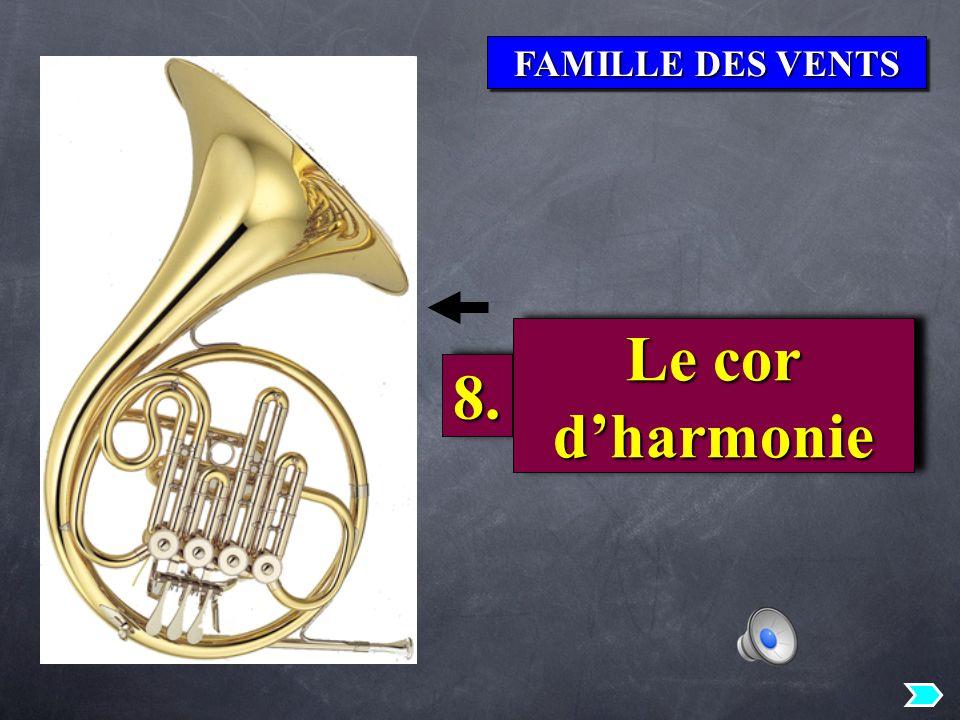 FAMILLE DES VENTS 8.8. Le cor dharmonie