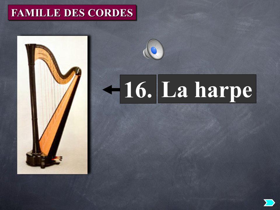 La harpe 16. FAMILLE DES CORDES