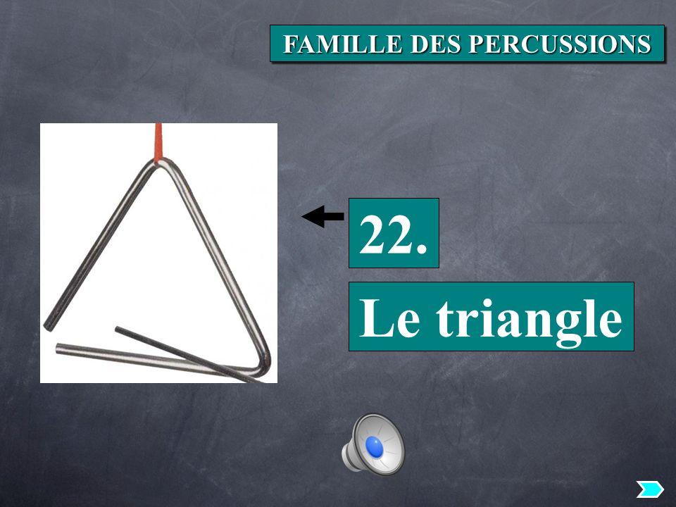 22. Le triangle FAMILLE DES PERCUSSIONS