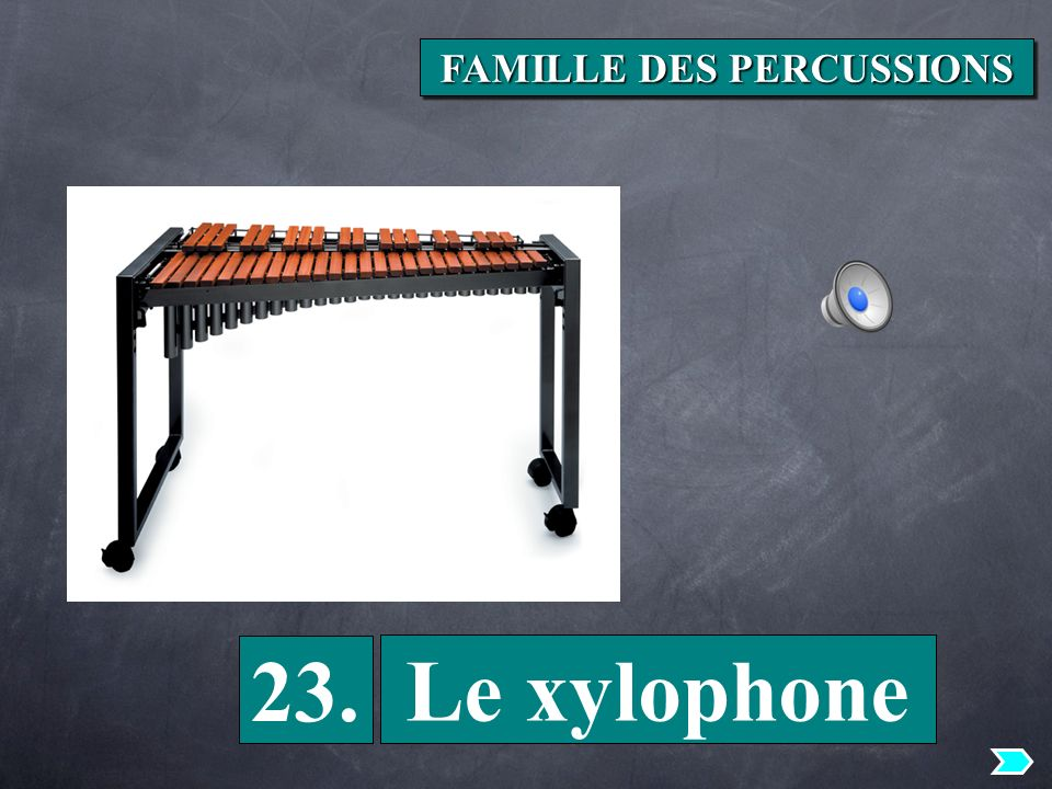 23. Le xylophone FAMILLE DES PERCUSSIONS
