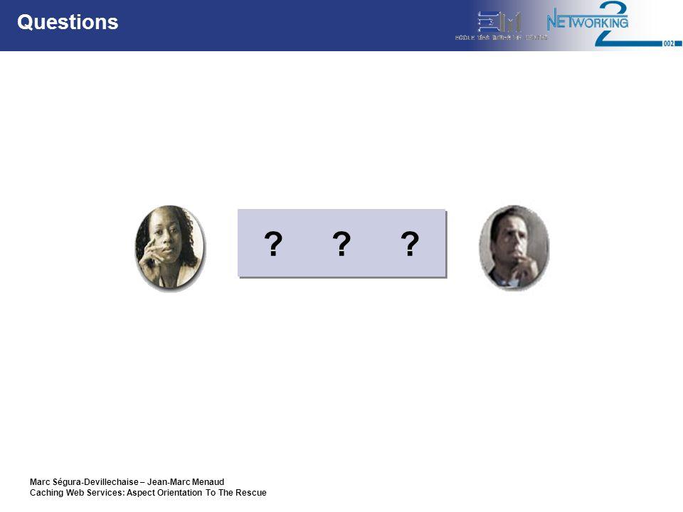 Marc Ségura-Devillechaise – Jean-Marc Menaud Caching Web Services: Aspect Orientation To The Rescue Questions .