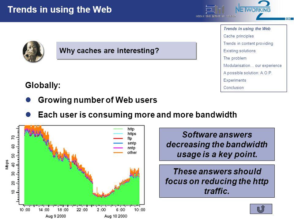 Marc Ségura-Devillechaise – Jean-Marc Menaud Caching Web Services: Aspect Orientation To The Rescue Cache principles How works a Web cache.