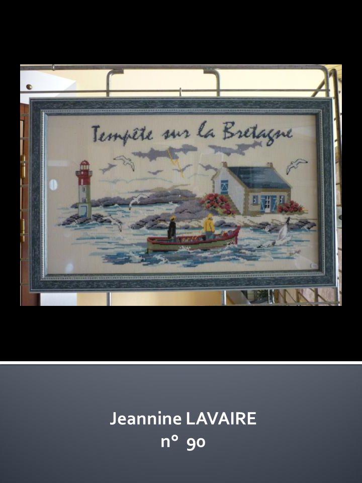 Jeannine LAVAIRE n° 90