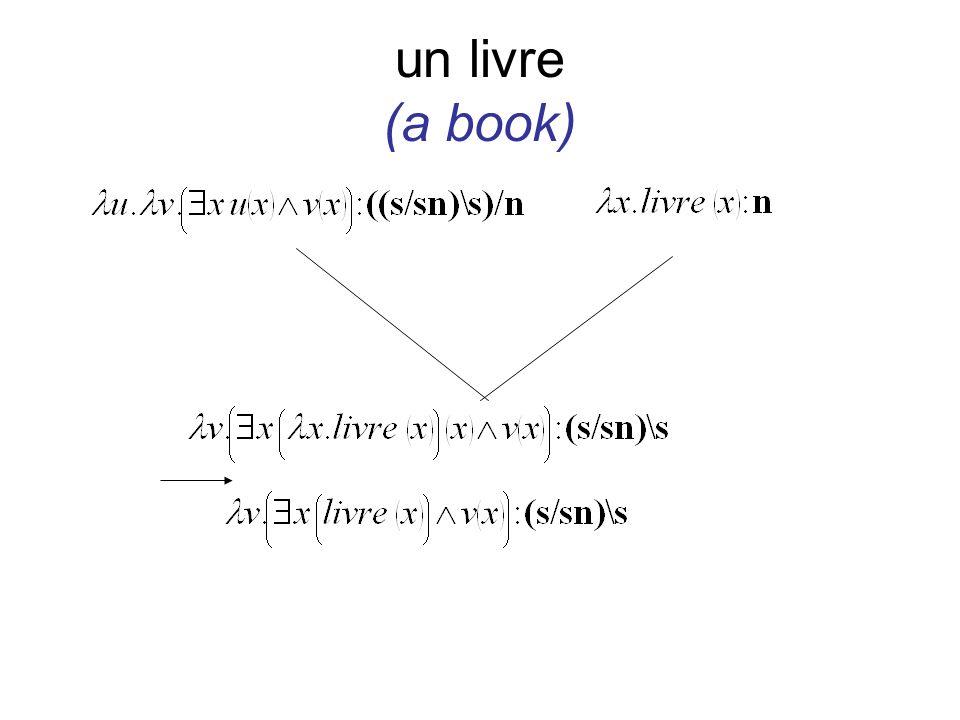 un livre (a book)
