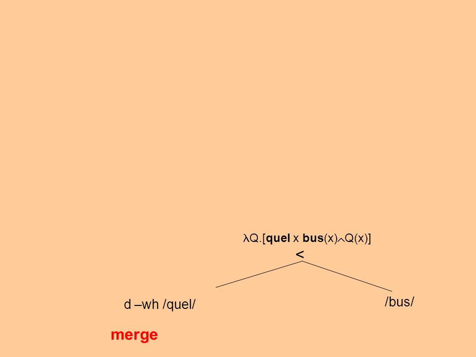 d –wh /quel/ /bus/ merge < Q.[quel x bus(x) Q(x)]