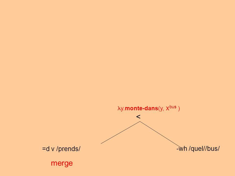 =d v /prends/ -wh /quel//bus/ merge < y.monte-dans(y, x bus )