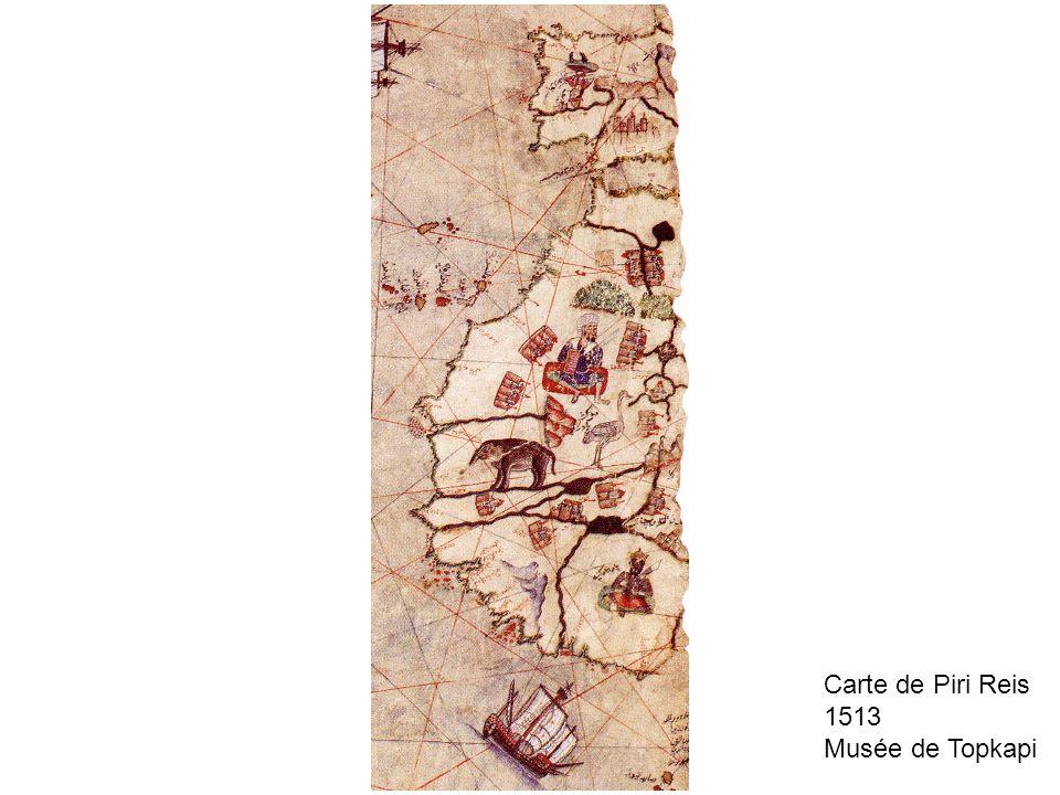 Carte de Piri Reis 1513 Musée de Topkapi
