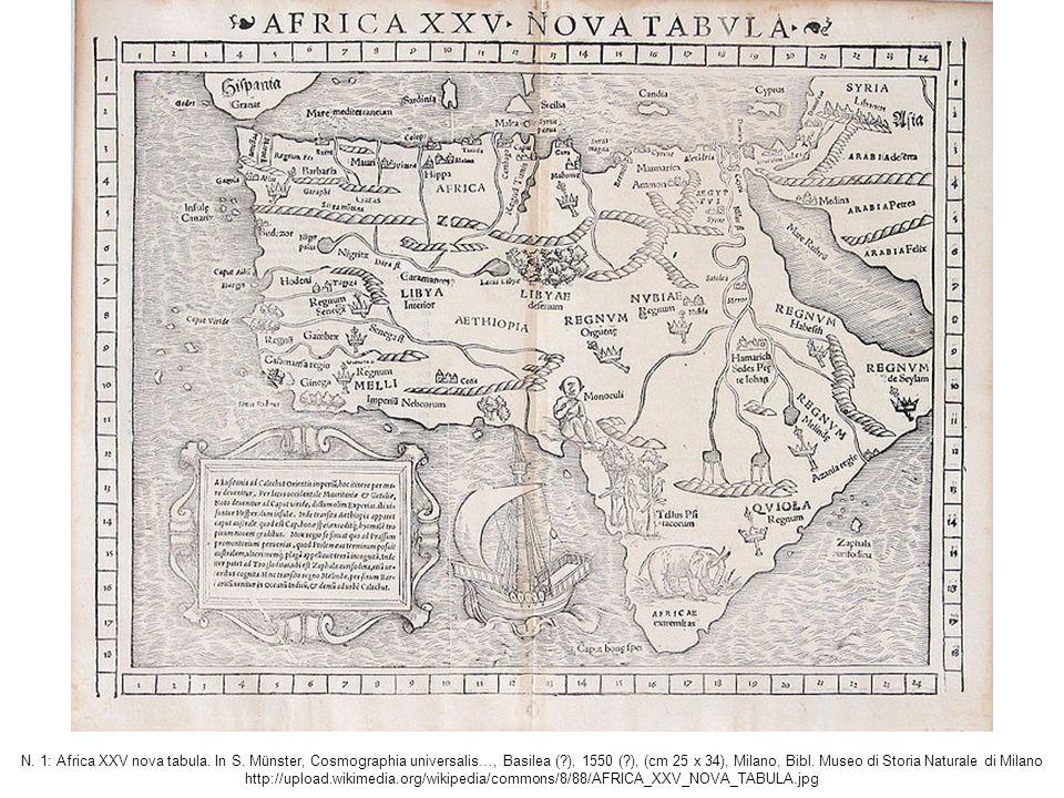 N. 1: Africa XXV nova tabula. In S.