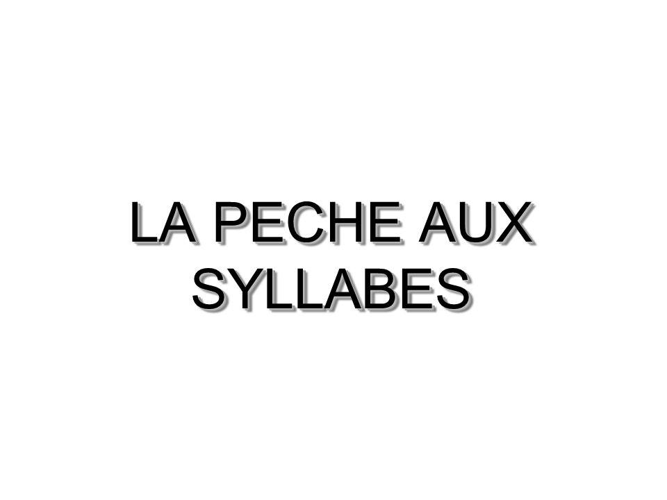 LA PECHE AUX SYLLABES