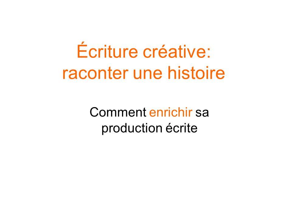Écriture créative: raconter une histoire Comment enrichir sa production écrite