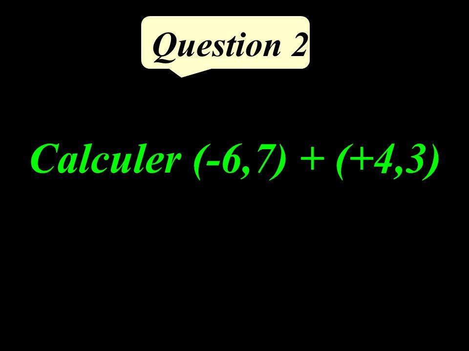 Calculer 0,3 0,4 Question 1