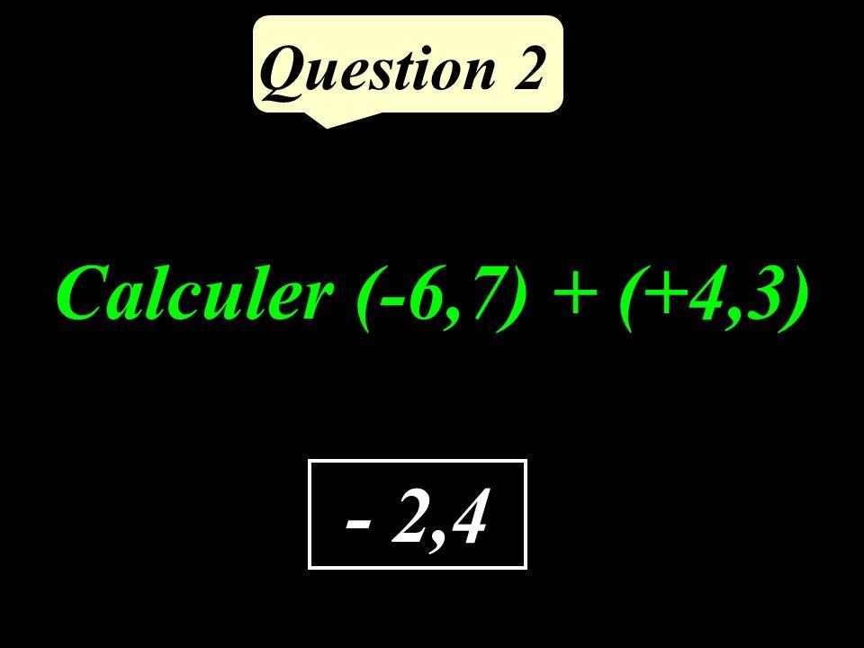0,12 Question 1 Calculer 0,3 0,4