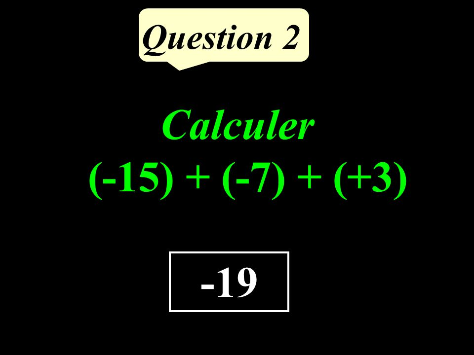 Question 1 4,85 Calculer le quotient de 485 par 100