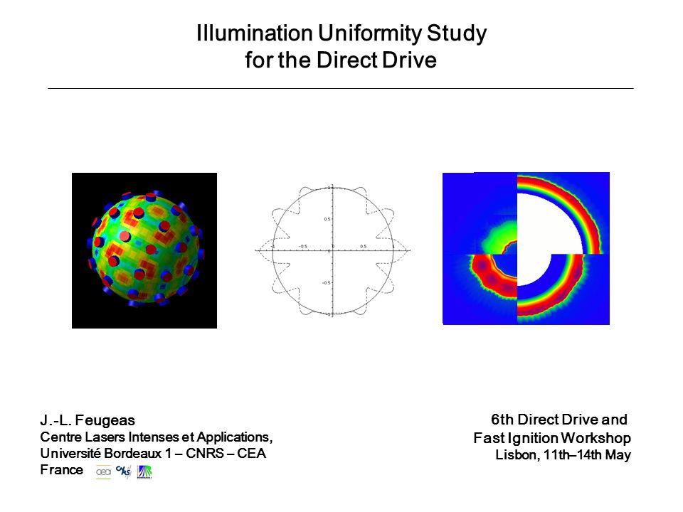 Illumination Uniformity Study for the Direct Drive J.-L.