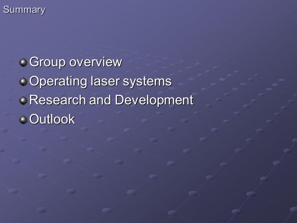 Group overview Directeur Ph.Balcou (DR) Adjoints au Directeur H.
