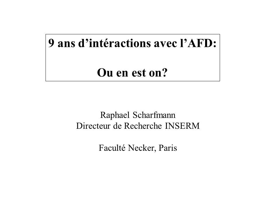 9 ans dintéractions avec lAFD: Ou en est on.