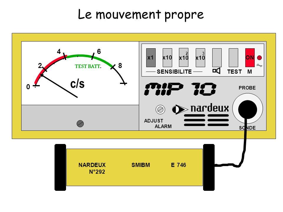 NARDEUX SMIBM E 746 N°292 x1x10 SENSIBILITE 2 x10 3 x10 TEST ON ADJUST ALARM PROBE SONDE M 0 2 46 8 TEST BATT. c/s Le mouvement propre