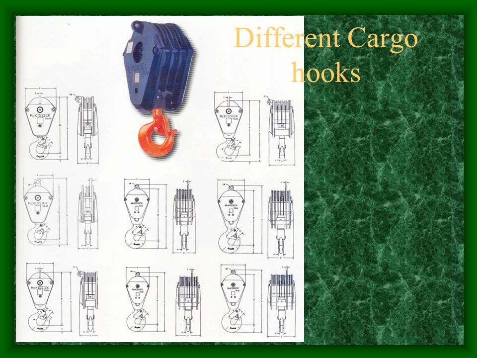 Different Cargo hooks