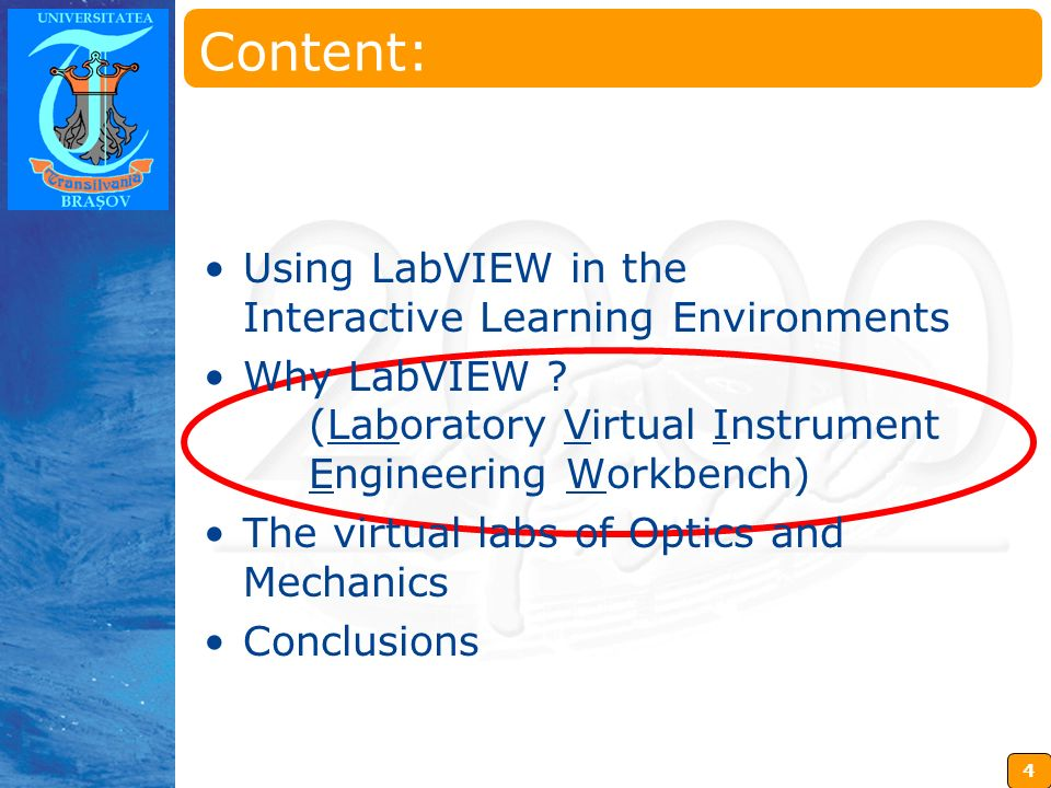 5 Insérez ici votre logo Why LabVIEW.