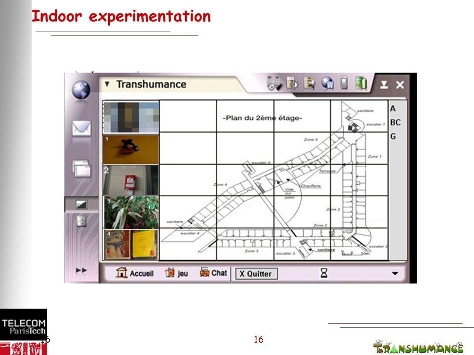 16 Indoor experimentation 16