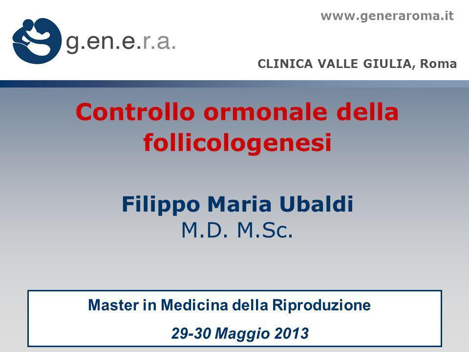 Controllo ormonale della follicologenesi Filippo Maria Ubaldi M.D. M.Sc. CLINICA VALLE GIULIA, Roma www.generaroma.it Master in Medicina della Riprodu