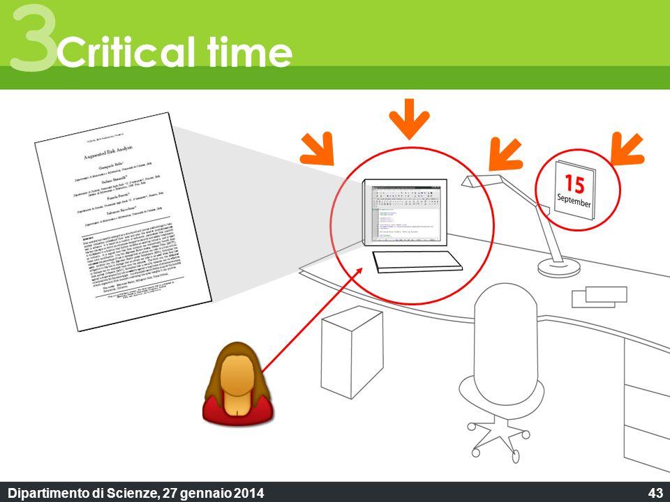 Dipartimento di Scienze, 27 gennaio 201443 3 Critical time