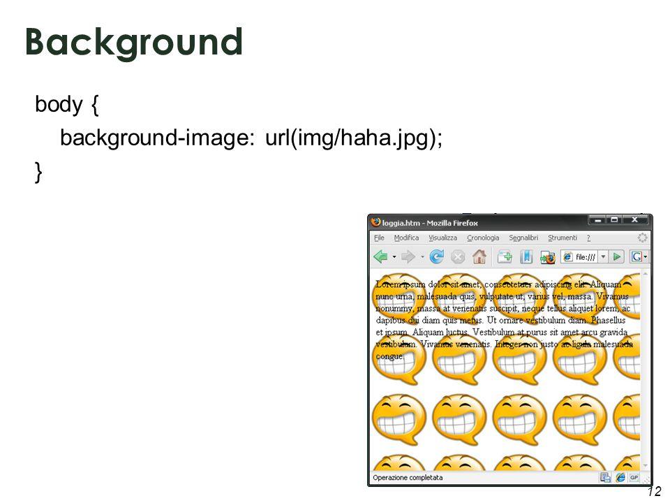 12 Background body { background-image: url(img/haha.jpg); }
